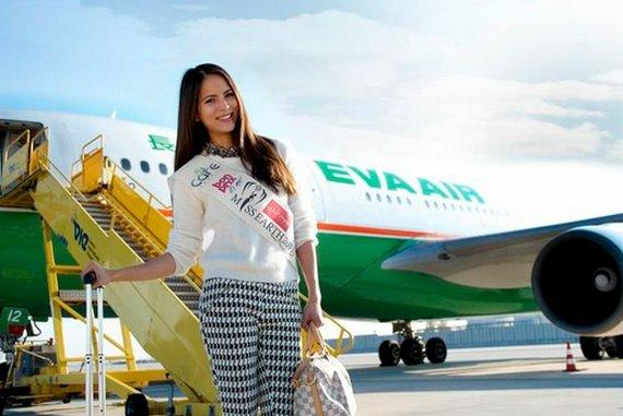 Miss Earth Austria Katia Wagner fliegt mit EVA AIR