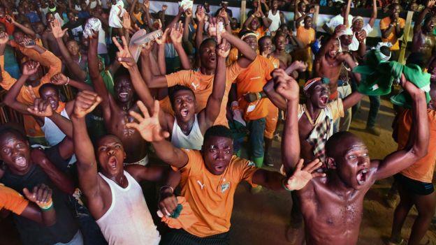 Nuit de folie en Côte d'Ivoire après la victoire des Eléphants