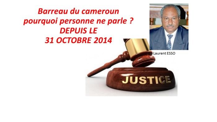 SCANDALE / Barreau du cameroun : pourquoi personne ne parle