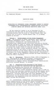 Executive Order developing an integrated Global Engagement Center
