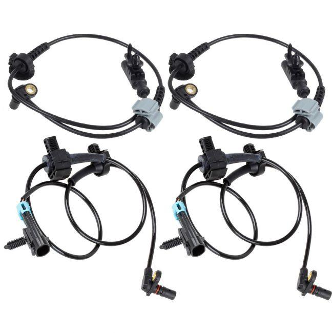 AUTEX 4PCS ABS Wheel Speed Sensor Front & Rear ALS1464