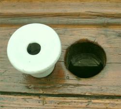 Ancien pupitre bureau dcolier dautrefois avec ses 2 encriers en porcelaine