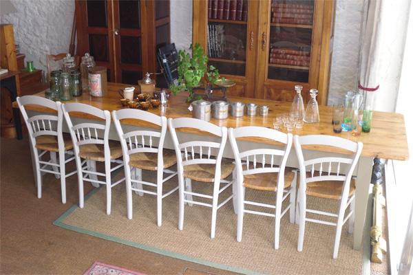 Tres Belle Et Grande Table Ancienne De Ferme Avec Plateau