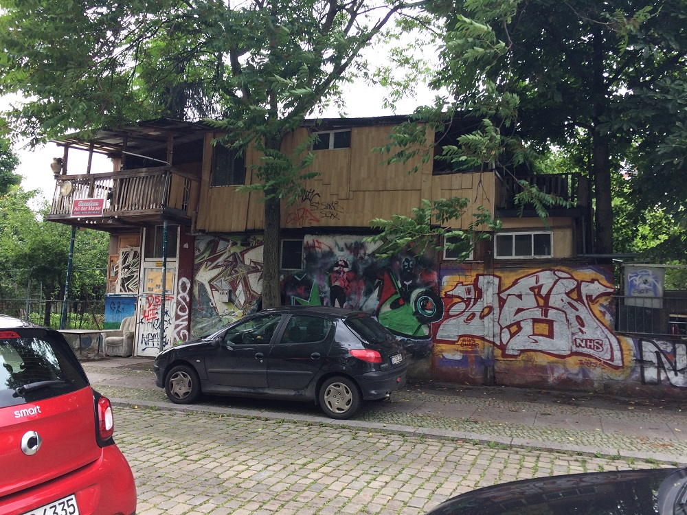 Treehouse on the wall photo taken on the Alternative Berlin free walking tour - by Hannah Cackett (Authentic Gems Travel)