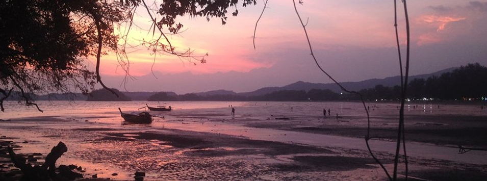 Photo of the Sunset in Ao nang, Krabi, Thailand by Hannah Cackett owner of Authentic Gems travel blog