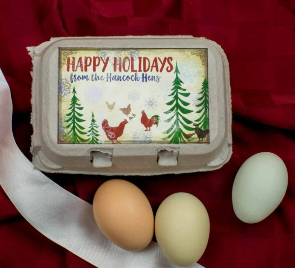 Holiday Egg Carton Labels - Watercolor Style Merry