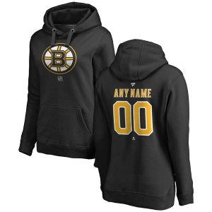 Women's Boston Bruins Fanatics Branded Black Personalized Team Authentic Pullover Hoodie