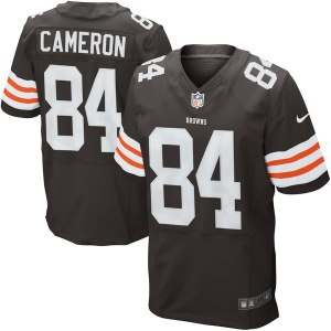 Men's Cleveland Browns Historic Logo Jordan Cameron Nike Brown Elite Jersey