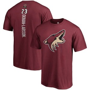 Men's Arizona Coyotes Oliver Ekman-Larsson Fanatics Branded Garnet Backer Name & Number T-Shirt