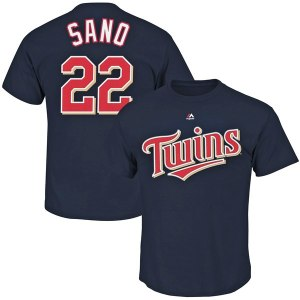 Men's Minnesota Twins Miguel Sano Majestic Navy Big & Tall Player T-Shirt
