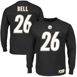 Men's Pittsburgh Steelers Le'Veon Bell Black Eligible Receiver II Name and Number Long Sleeve T-Shirt