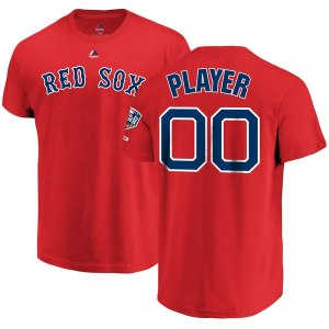 Men's Boston Red Sox Majestic Red 2018 World Series Champions Custom Name & Number T-Shirt