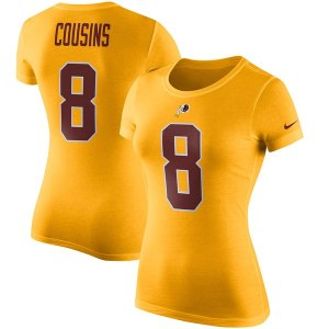 Women's Washington Redskins Kirk Cousins Nike Gold Player Pride Color Rush Name & Number T-Shirt