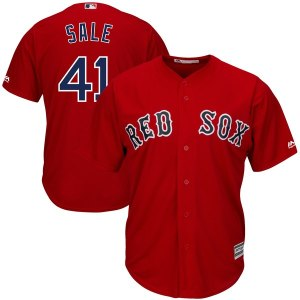 Men's Boston Red Sox Chris Sale Majestic Red Alternate Cool Base Jersey