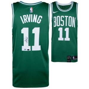 Autographed Boston Celtics Kyrie Irving Green Nike Swingman Jersey - Panini Authentic