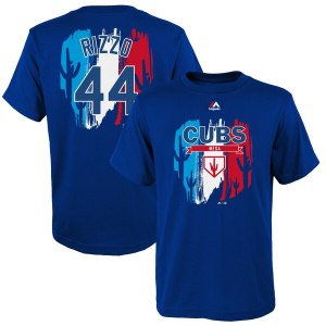 Youth Chicago Cubs Anthony Rizzo Majestic Royal 2019 Spring Training Name & Number T-Shirt