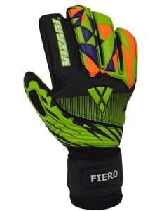 Vizari fiero goalkeeper glove finger protection black green orange vzgl also rh authenticsoccer