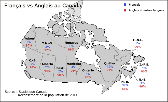 what are some english speaking regions in quebec what are