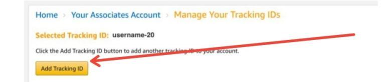 Amazon Aggiungi ID di monitoraggio