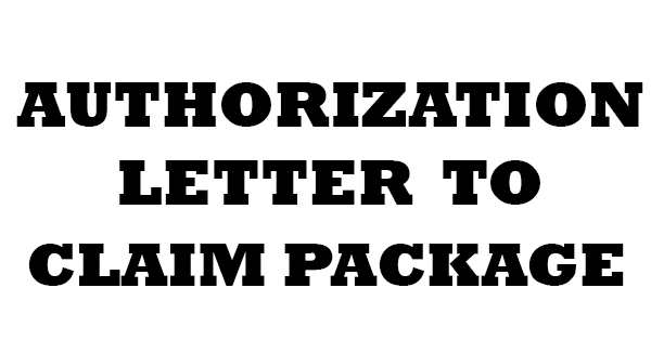 Authorization Letter To Claim Package