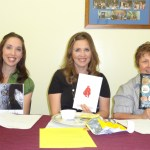 Heather Tregaskes, Jennifer Griffith, Debbie Heaton at the Safford BPW meeting in May 2013