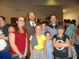 Midas Whale and my nieces and nephew and some kid-friends. What gracious rock stars. (How often can you say that and mean it?)