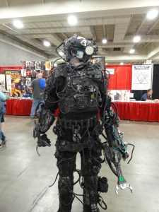 This Cyborg spent years on this costume. The saw on the gun worked. There were blinking lights. He started making this thing in 1993. WTG, right?
