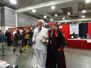 This was our booth neighbor. And the Colonel.