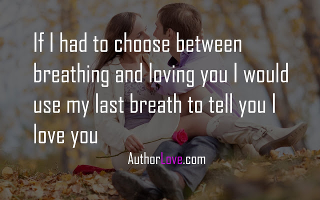 If I Had To Choose Between Breathing And Loving You Love