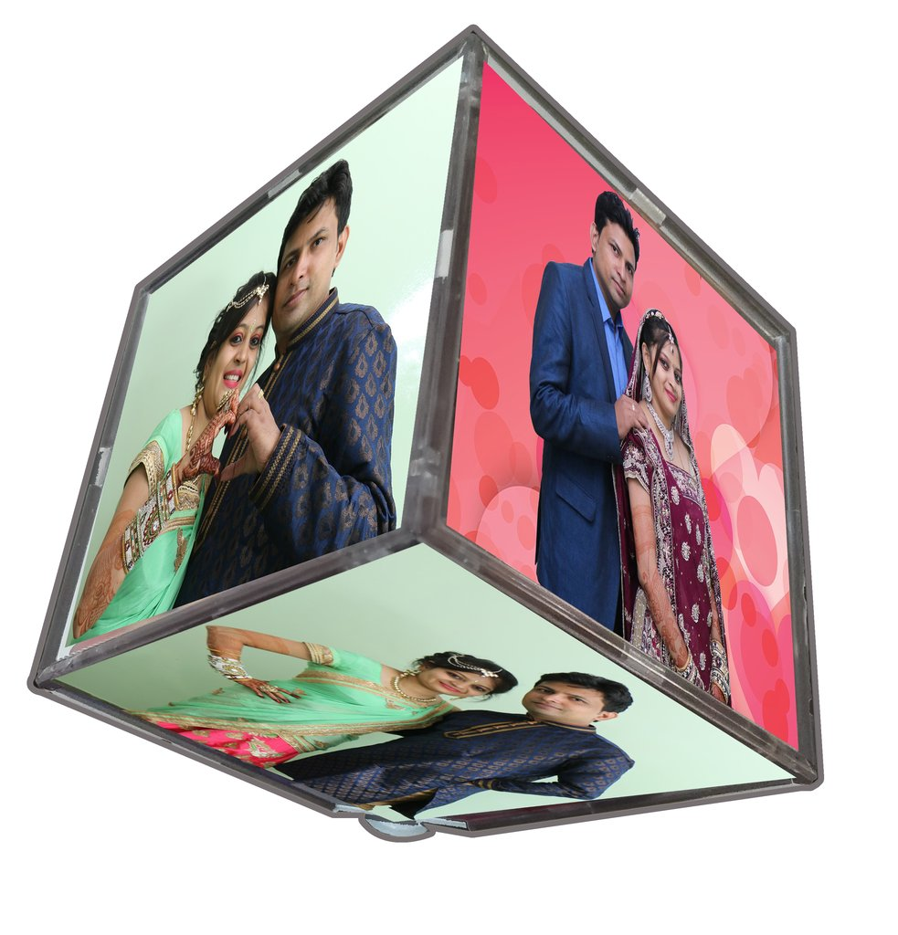 Rotating Photo Cube With LED Light Author Love