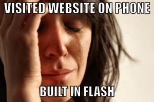 Flash on a website
