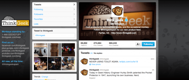 Example Twitter Profile
