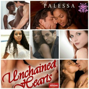 Unchained Hearts, Baxter Family Saga 1 by Palessa - Two love stories one book.