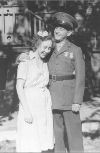 Military families: Alice and her Marine, Ben Green in 1944