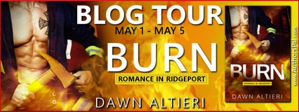 Tour Banner for Burn, by Dawn Altieri