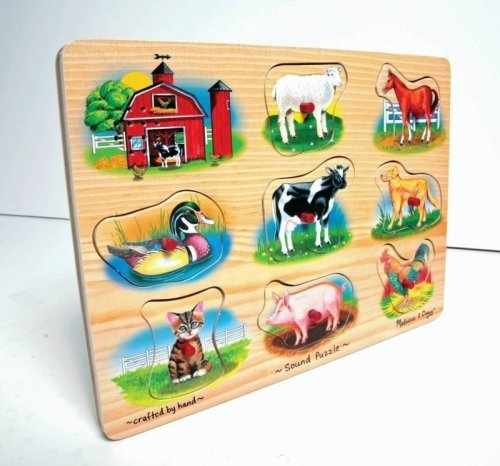 Farm Animal Sound Puzzle - Melissa & Doug