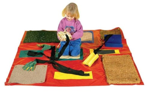 Feelie Mat with Detachable Textured Patches