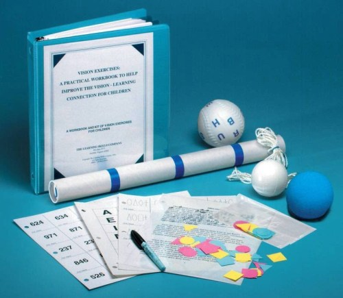 Learning Skills Vision Exercises Workbook and Kit