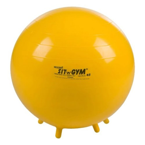 Gymnic Sit'N'Gym Jr. Therapy Ball, 17-1/2 in, Yellow