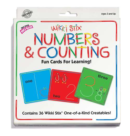 Wikki Stix Numbers Cards Set
