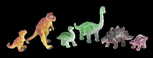 Learning Resources Jumbo Dinosaurs: Mommas and Babies, Set of 6