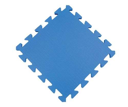 School Specialty Puzzle Floor Mat, 12 X 12 in, Blue