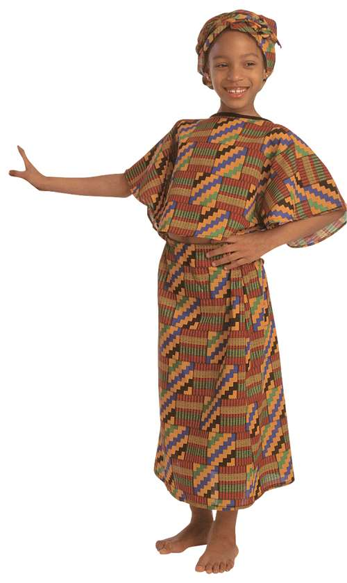 Children's Factory African American Multi-Cultural Girl Costume