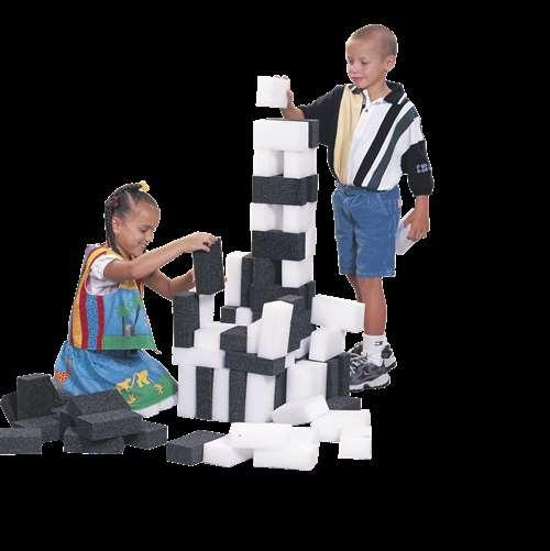 Sportime BrickWorks Bricks, Set of 100, Black and White