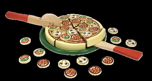 Melissa & Doug Special Occasion Play Food Pizza Party Set