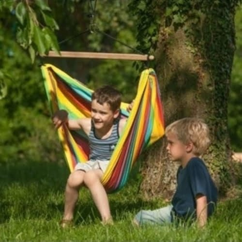 iri child hammock swing outside