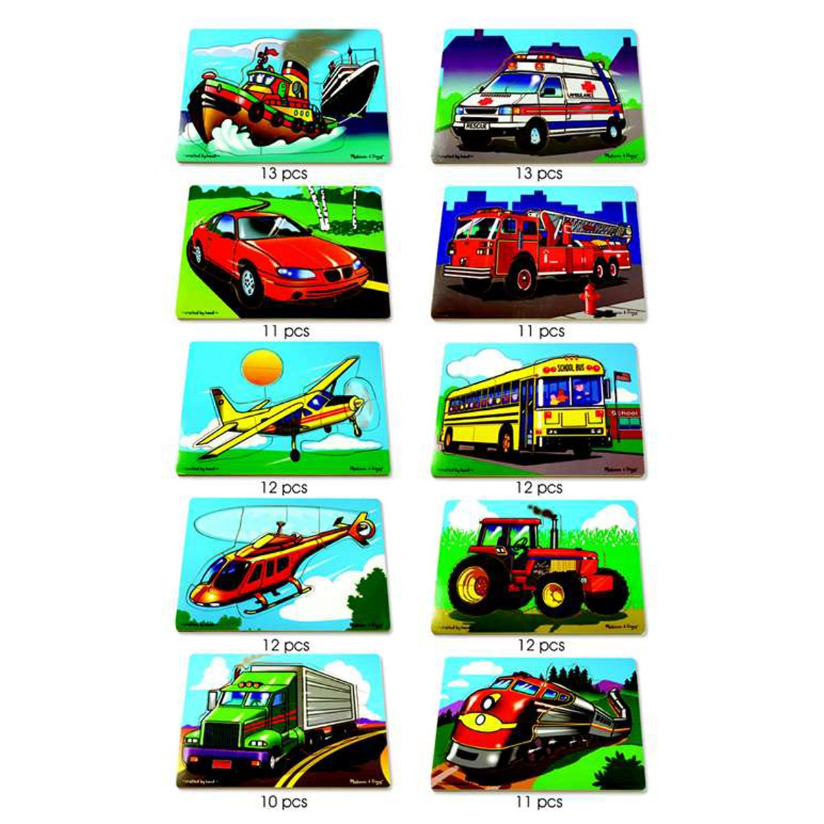 Melissa Amp Doug Favorite Vehicles Puzzle Set