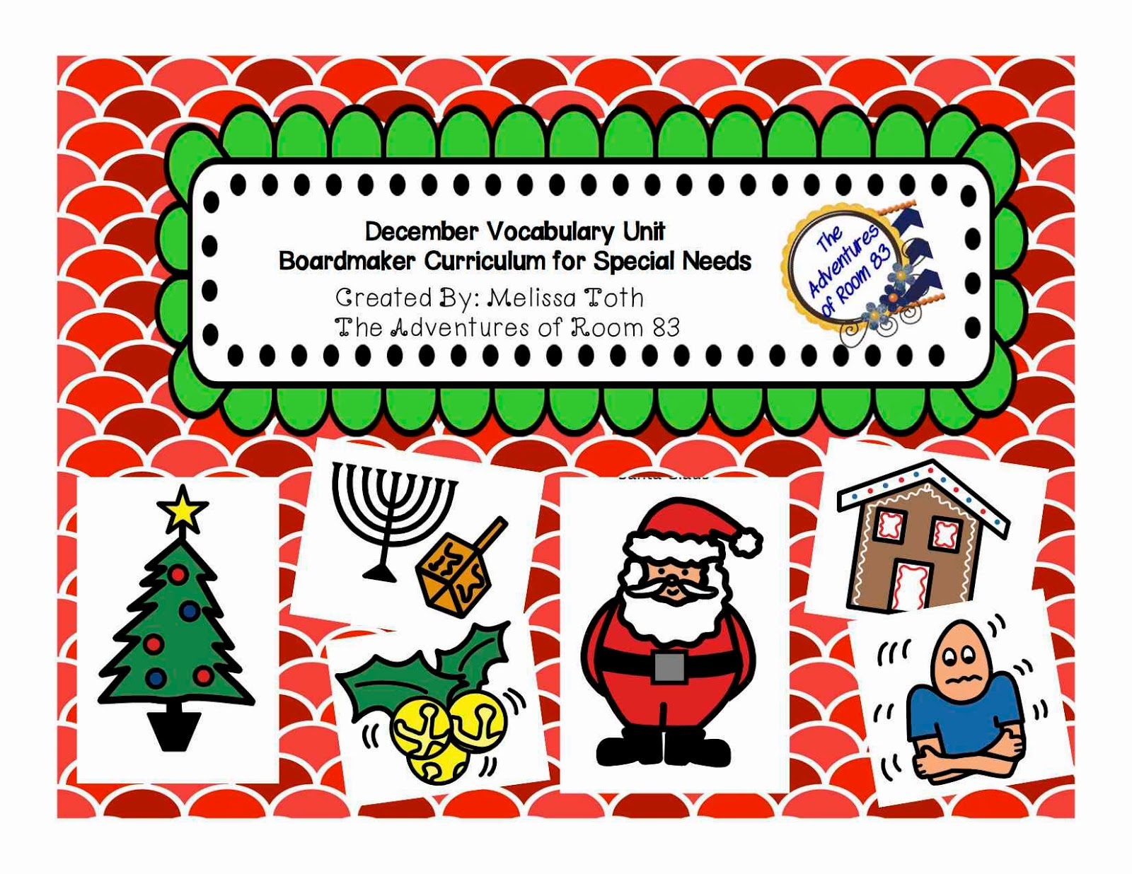 December Vocabulary Bundle Autism Adventures