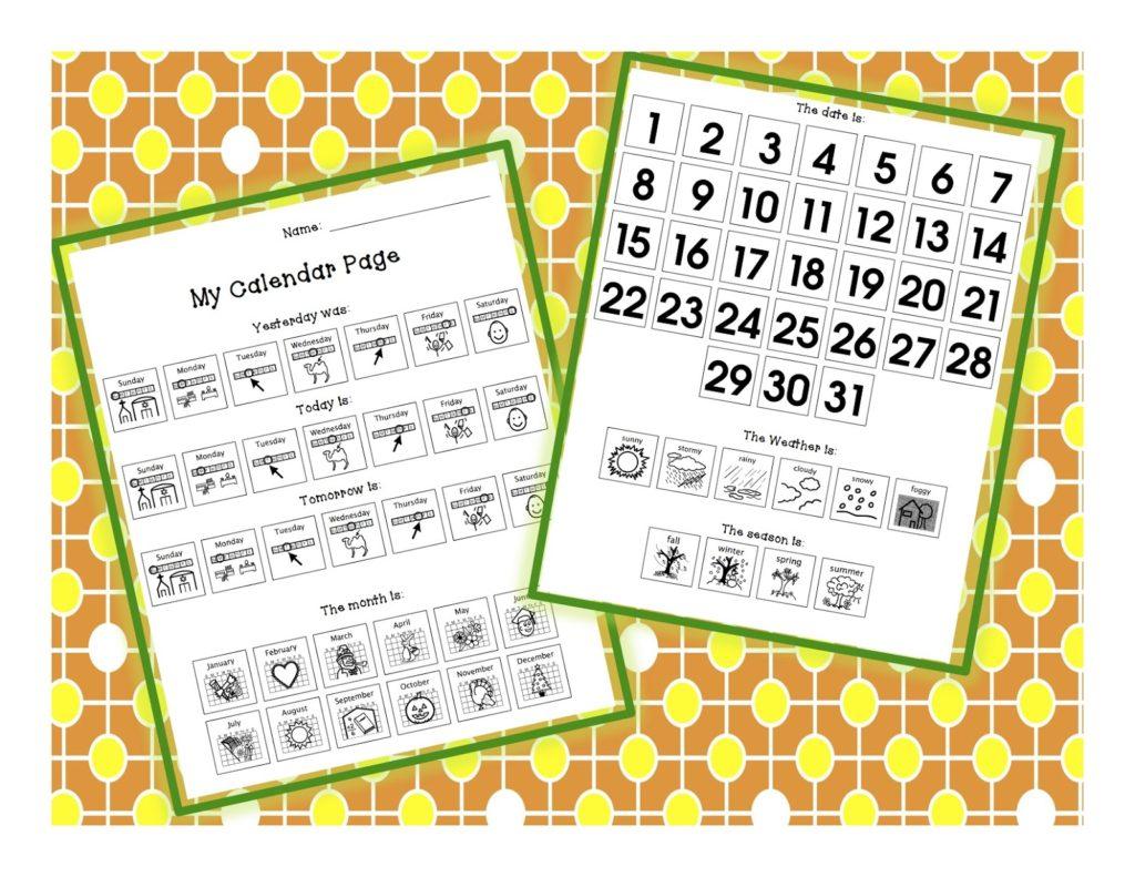 Summer Series Calendar Time Autism Adventures