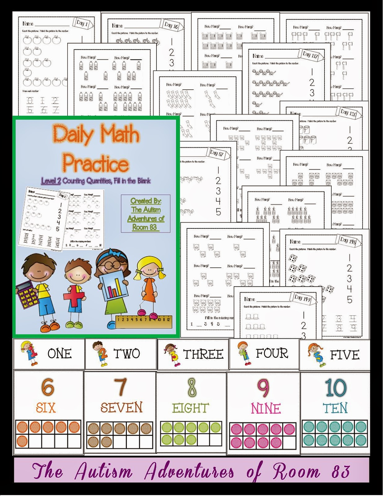 Daily Math Practice Level 2 Counting Quantities